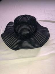 Chapéu de praia preto
