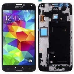 Samsung Galaxy S5 tela LCD touch  Screen com botão Home e vidro Preto