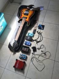 Guitarra Strinberg SGS 250 + Pedais de efeitos