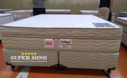 Conjunto Cama Box Outback Pelmex Queen Size 158x198 Mola Ensacada