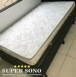Conjunto Cama Box Sleep Pocket Ortosleep Solteiro 88x188 Mola Ensacada