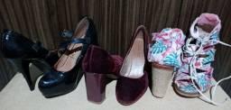 Vendo 3 sapatos em ótimo estado