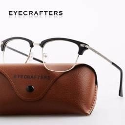 Óculos com armação retro Clubmaster