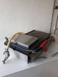 Balcão, chapa elétrica e estufa elétrica