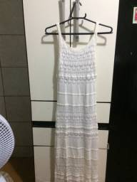 Vendo vestido branco longo