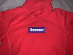 Moletom Supreme Box Logo Hooded Sweatshirt FW17 Vermelho