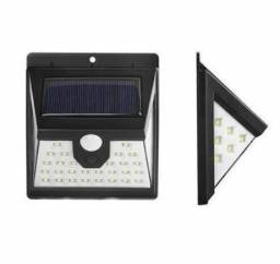 Kit 2 Arandelas Solar 40 Leds Luminária Recarregável Sensor de presença