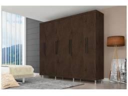 Oferta : Guarda-roupa Casal 8 Portas 4 Gavetas - Araplac Porto - Novo