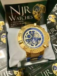 Relógio Invicta subaqua noma III azul borracha