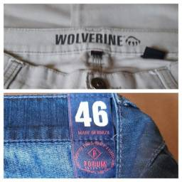 2 calcas masculinas,46, seminovas, só venda