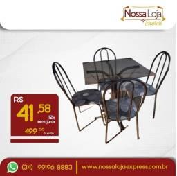 Título do anúncio: Mesa de vidro 4 cadeiras - últimas unidades