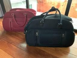 2 bolsas/ malas de viagem com rodinhas e alças