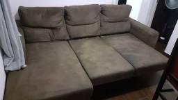 Sofa retrátil  3 lugares bem confortável