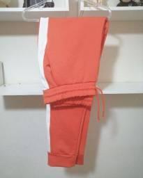 Calça jogger laranja tam gg