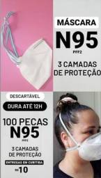 100 Máscaras N95 (Não vendemos unidade)