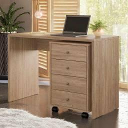 Escrivaninha com gaveteiro (cor: nogal)