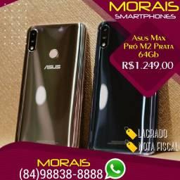 (Oferta Limitada) Zenfone Asus Max Pró M2 64Gb Prata (LACRADO+NOTA FISCAL+GARANTIA)