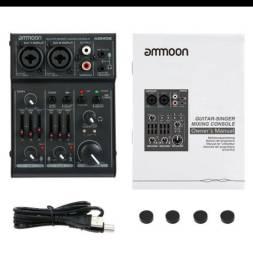 Mixer(mesa), placa de áudio, 2 canais