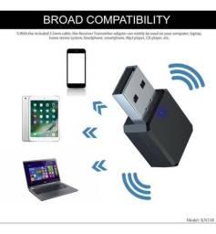 Adaptador 2 em 1 Bluetooth 5.0 Transmissor Receptor KN320 T-10