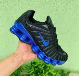 Ténis nike 12 molas azul com preto!