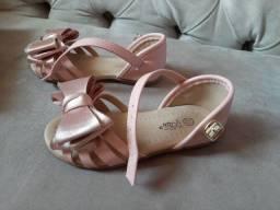 Sandália infantil rosa 22