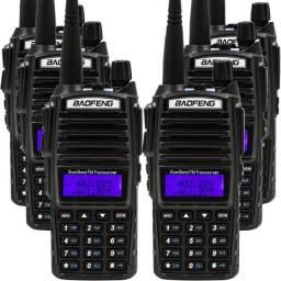 Rádio Comunicador ht Bf Kit 6 Uv-82 Dual Band Rádio Fm