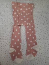 Meia calça bebê - 0 a 6 meses