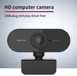 webcam 1080p usb com microfone plug and play