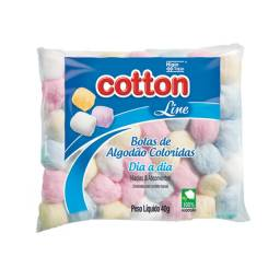 Algodão Bola Branca 40G 007 9649 Cotton Line