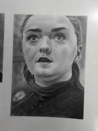 Arya Stark, desenho feito a lapis
