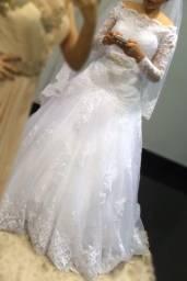 Vendo vestido de noiva. Única dona