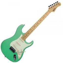 R$ 980 Guitarra Tagima TG530 Woodstock Surf Green TG 530 Stratocaster - Somos Loja