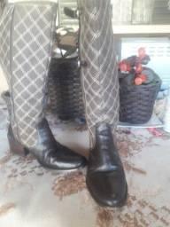 Bota  couro  legítimo, TAM 34
