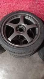 Rep Advan GT aro 18 5x100 pneus bons