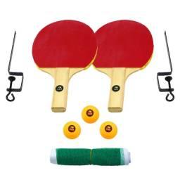 Kit Ping Pong - Rede+Raquete+Bolinha+Suporte