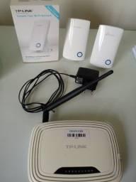 Repetidor Wi-Fi mais roteador sem fio