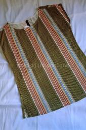 Blusa listrada em algodão