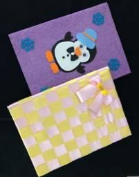 Caderno decorado artesanalmente R$ 18,00