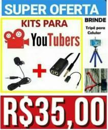 Kit youtubers com tripé gratis