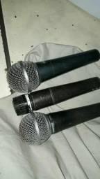 Microfones Shure SM58, Beta 58A e SM57 + Cabos P10 Santo Ângelo