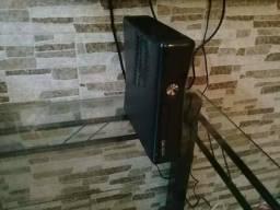 Vendo xbox 360 slim desbloqueado lt 3.0 pega internet e tudo + 17 jogos