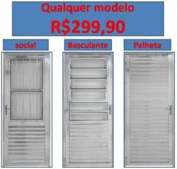 Qualquer modelo de porta R$300,00 portas nova completa