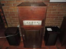 Toca-disco Garrad 301 e Amplificador Gavox AG-801 Anos 50