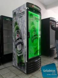Cervejeira Metalfrio - Ja Adesivada Heineken - Seminova Com Led Verde