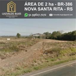 Área de Terra de 2 hectares na BR 386 - Nova Santa Rita - RS