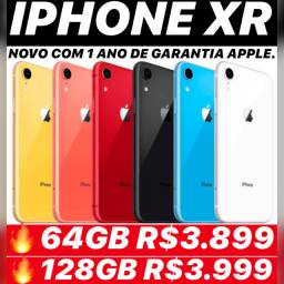 IPhone XR 64gb novo lacrado, aceitamos seu iPhone usado como parte do pagamento