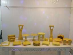 Kit decoração amarelo