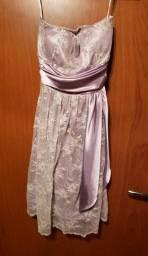 Vendo vestido de renda curto tam M
