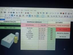 Planilha controle de despesas pessoais LibreOffice