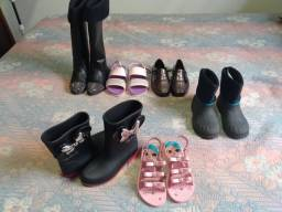 Sapatos botas sandália infantil